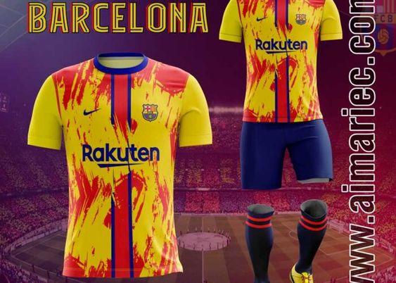 Áo Barcelona Fantasy Màu Vàng