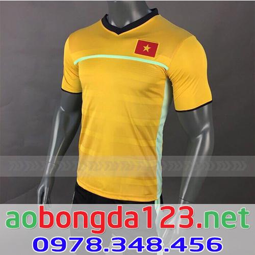 Áo Bóng Đá Đội Tuyển Việt Nam Training 2018 - Màu Vầng